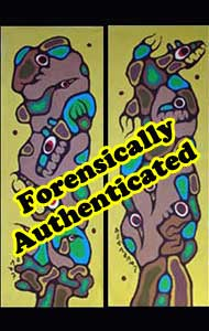 These Potter paintings forced Morrisseau and his business manager to settle out of court and pay Joe Otavnik $11,000 for defaming his paintings.