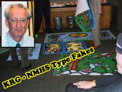 "This is the only photograph ever found that shows a few of the paintings Donald Robinson called fakes which he gave to the NMHS to use as benchmarks for which paintings they were to ""burn."""