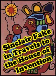 One of five pictures Sinclair says are fakes, and erroneously published by a senile Morrisseau and forgetful Robinson,  in Travels to the House of Invention in 1997.