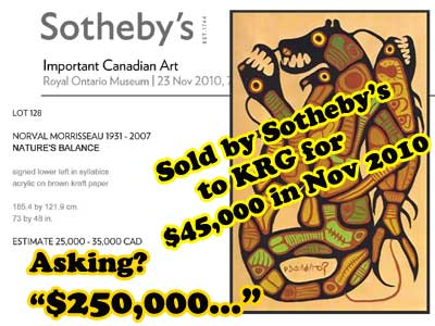 Another painting KRG routinely buys at auctions.