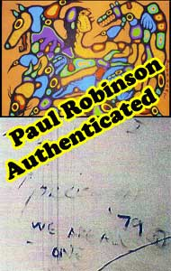 In spite of Donald Robinson saying ALL BDPs are fakes, his own son, Paul Robinson, the current boss at the Kinsman Robinson Galleries has, over the years, authenticated countless BDPs, like this one in 1999.