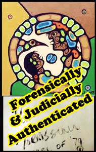"Donald Robinson still claims ""Wheel"" is a forgery despite the fact it has been authenticated by: two longtime Morrisseau dealers, the brother of the artist, a top Canadian forensic scientist, and now a court judge. Why does he do this?"