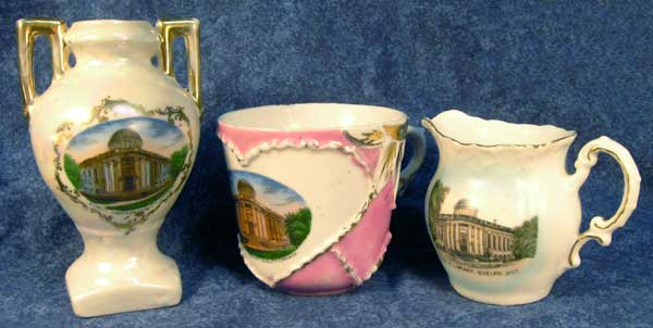 Fanny's son Will Colwill was the architect of the Guelph Carnegie Library, among others, featured here in rare Canadian souvenir ware.