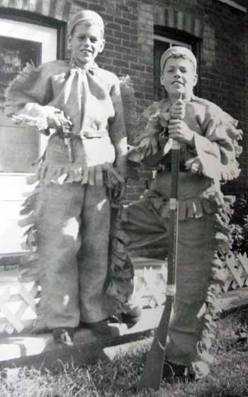 Kids Love Dress-up - That's the author at 14, dressed in his Davey Crockett outfit during the Fess Parker craze in 1956.