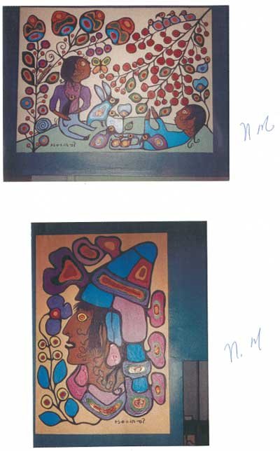 In March 2005, Norval couldn't remember signing his name twenty-three times on 23 different paintings in 1988 when he was mentally together.