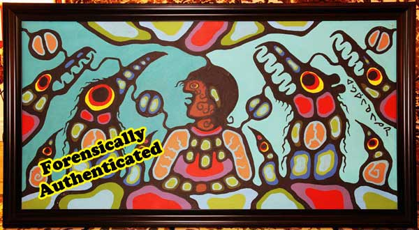 "This BDP, ""Shaman With Power Spirits"" is exactly the painting that John M Newman and fellow KRG so-called ""experts"" called a fake. It was subsequently declared a genuine Morrisseau by a top forensic scientist."