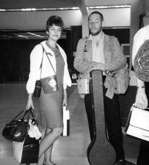 Joan and John Goldi off with CUSO to remote northern Uganda for a two-year stay as high school teachers in 1966.