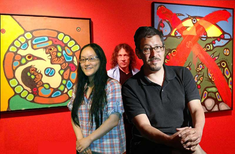 "That's Dumb Ottawa SAW Gallery Director Tam-Ca Vo-Van, and ""Dumber"" Curator Jason St-Laurent for listening to hugely judicially discredited Ritchie Sinclair and putting up ""Wheel of Life 1979"" as a Morrisseau ""fake"" just after two judges had ruled it absoltely authentic both front and back."