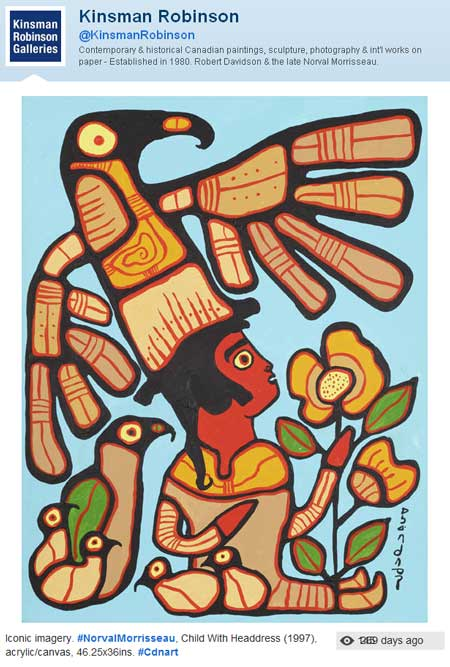 KRG provanance claims attribute this painting to Norval Morrisseau in 1997