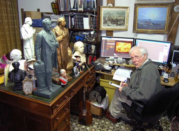 The curator busy authenticating and cataloguing some of the 4,500 antique art and memorabilia items he acquired for the Canadian Anglo-Boer War Museum. It has given him a background on deciphering fakes, frauds, and forgeries, that is recognized around the world.