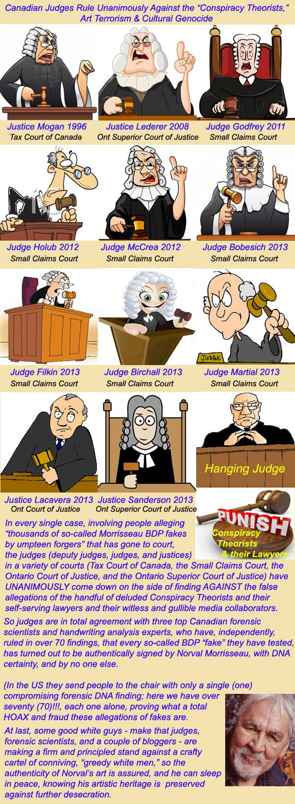 For the Good Guys 11 Judges; For the Bad Guys 1 Hanging Judge