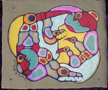 "Lisa Morrisseau's ""first Morrisseau"" shows all the earmarks of a Norval BDP, wear and tear, missing paint, dirt and scuff marks, etc, of having passed through many hands since Norval painted it in 1976. Only an idiot - which is how Lisa dismisses Ritchie Sinclair - could possibly claim this is a forgery painted by someone after 1999."