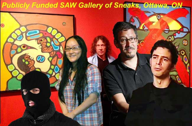 The Gang of Five that were behind the malicious publication of at least one - I believe three - genuine Morrisseau paintings as forgeries as a favour or under the direction of either or both KRG or NMHS orders.
