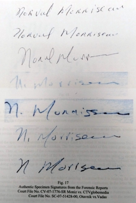 "KRG's authenticated signatures for Norval as pualished in his ""expert report in 2012"" So KRG knew the ""Men talk about..."" was a total fake but refused to publish this on the auction entries. It's part of the continuing policy that KRG has had for years, falsify, fabricated, and hide the true provenance of art they're selling."