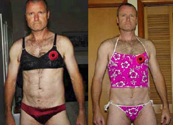 Playing dress-up, a fetish which both Sinclair and Vadas share, we hasten to add, is not a crime. The best people do it, like Russell Williams who was the Canadian Forces' top colonel and commander of CFB Trenton when he photographed himself drssing up to attend a Remembrance Day ceremony.